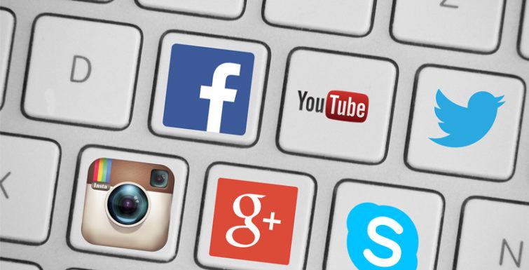 mídias sociais site